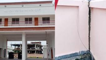 গলাচিপা ফায়ার সার্ভিস স্টেশন ভবন হস্তান্তরের পূর্বেই ফাটল