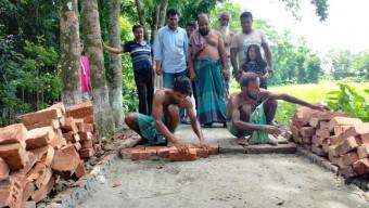 রাস্তা উন্নয়ন হওয়ায় দুর্ভোগ কাটলো মাখরকাঠী গ্রামের