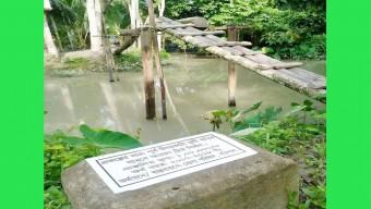 আয়রন ব্রিজের বরাদ্দে সুপারী গাছের সাঁকো নির্মাণ!