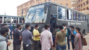 আটকে পড়া ২২ জেলার শিক্ষার্থীদের বাড়ি পৌঁছে দিল ববি প্রশাসন