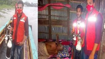 কাউখালীতে ফোন করার সাথে সাথে করোনা রোগীর বাড়ী পৌছে গেলো অক্সিজেন