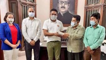 মেয়র সাদিক আবদুল্লাহর সাথে রেড ক্রিসেন্ট সোসাইটির সাক্ষাৎ